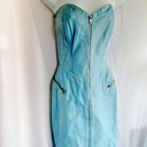 Vintage MICHAEL HOBAN NORTH BEACH LEATHER Dress